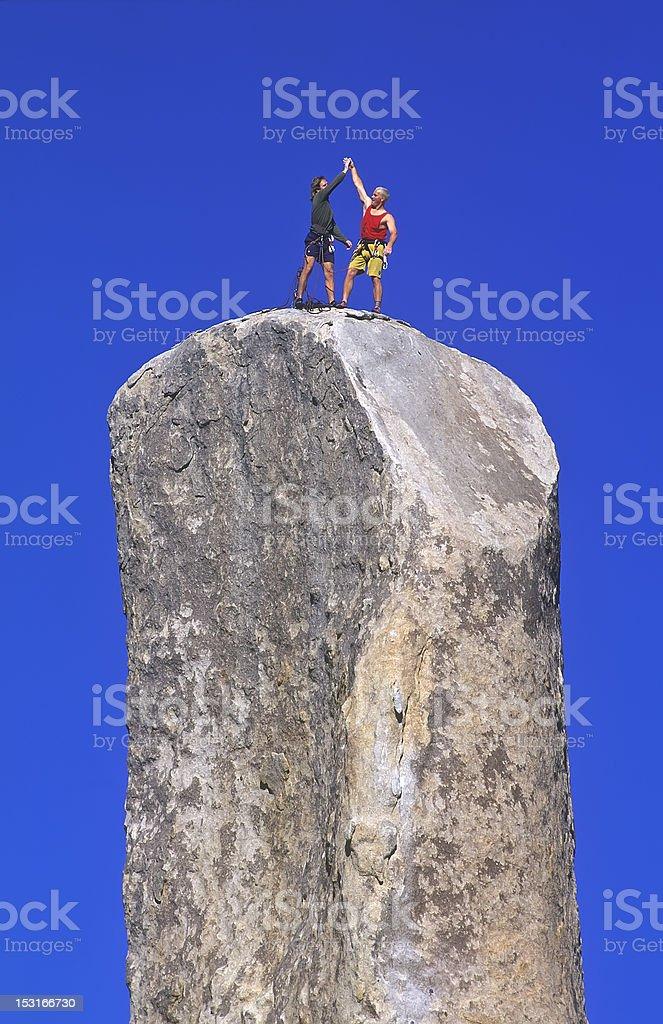 Team of rock climbers. royalty-free stock photo