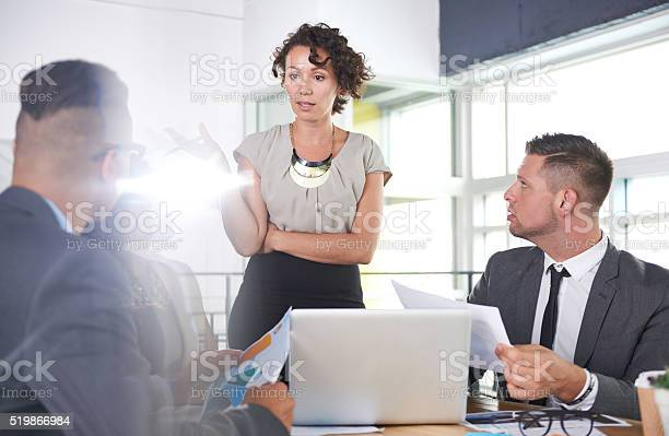 Team Of Successful Business People Having A Meeting In Executive Stock Photo - Download Image Now