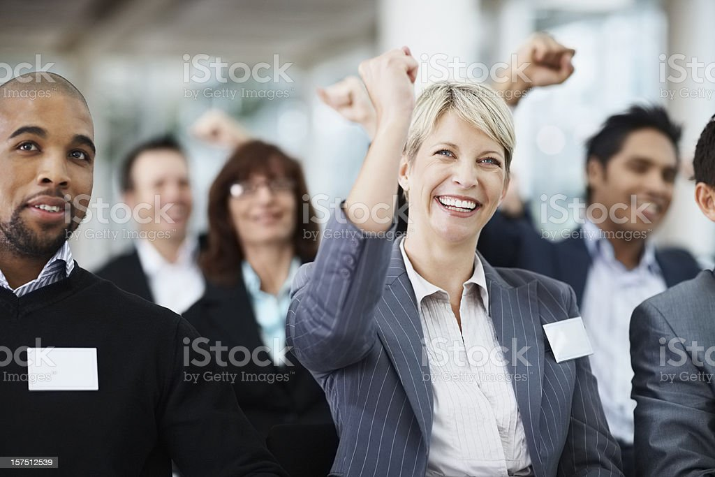 Team of successful business people royalty-free stock photo