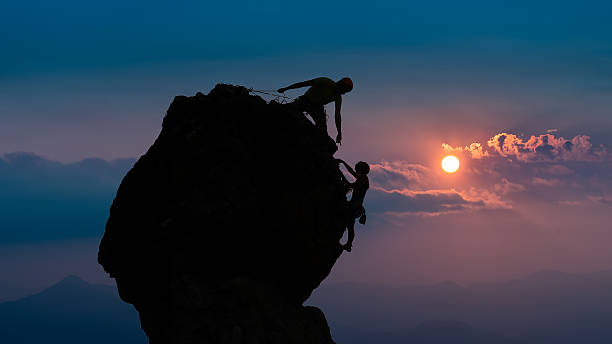 Team of two mountaineers – Foto