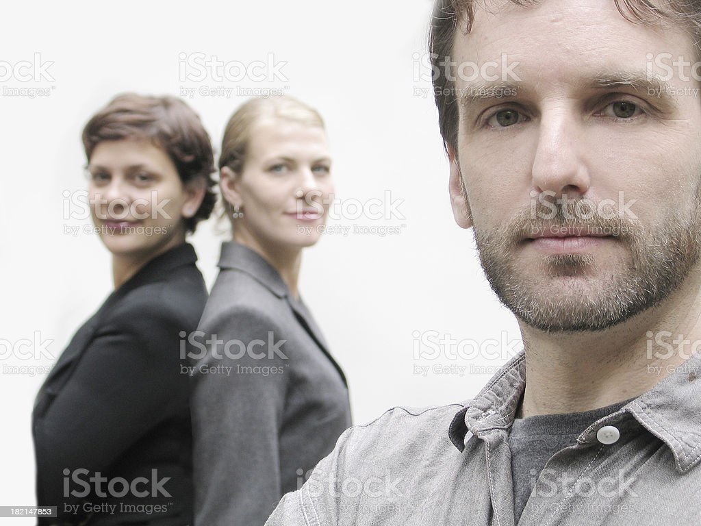 team of white collar workers royalty-free stock photo