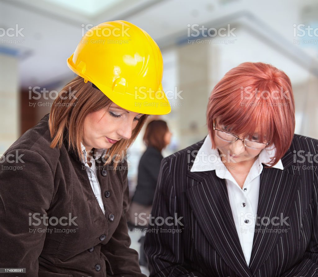 Team of women architects royalty-free stock photo