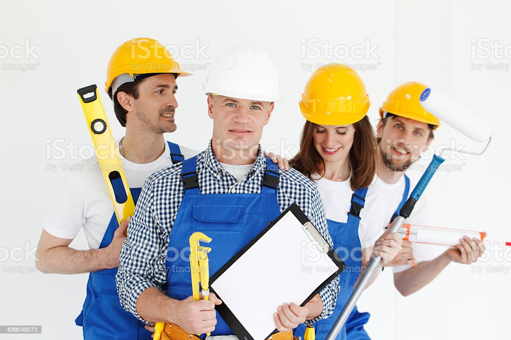 Team of workers royalty-free stock photo