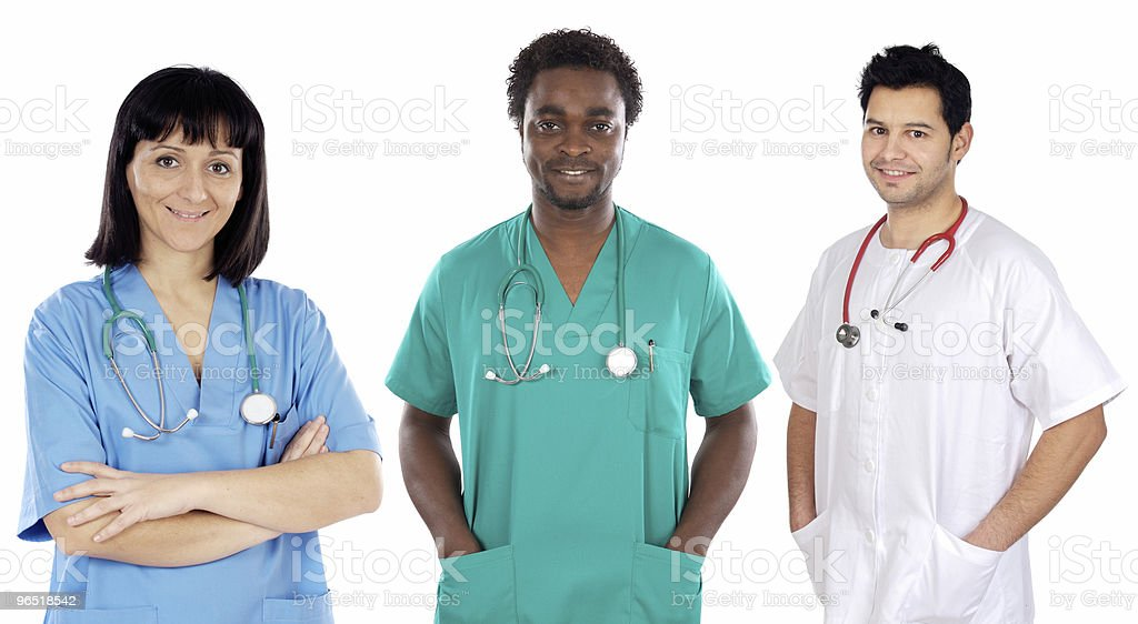 Team of young doctors royalty-free stock photo