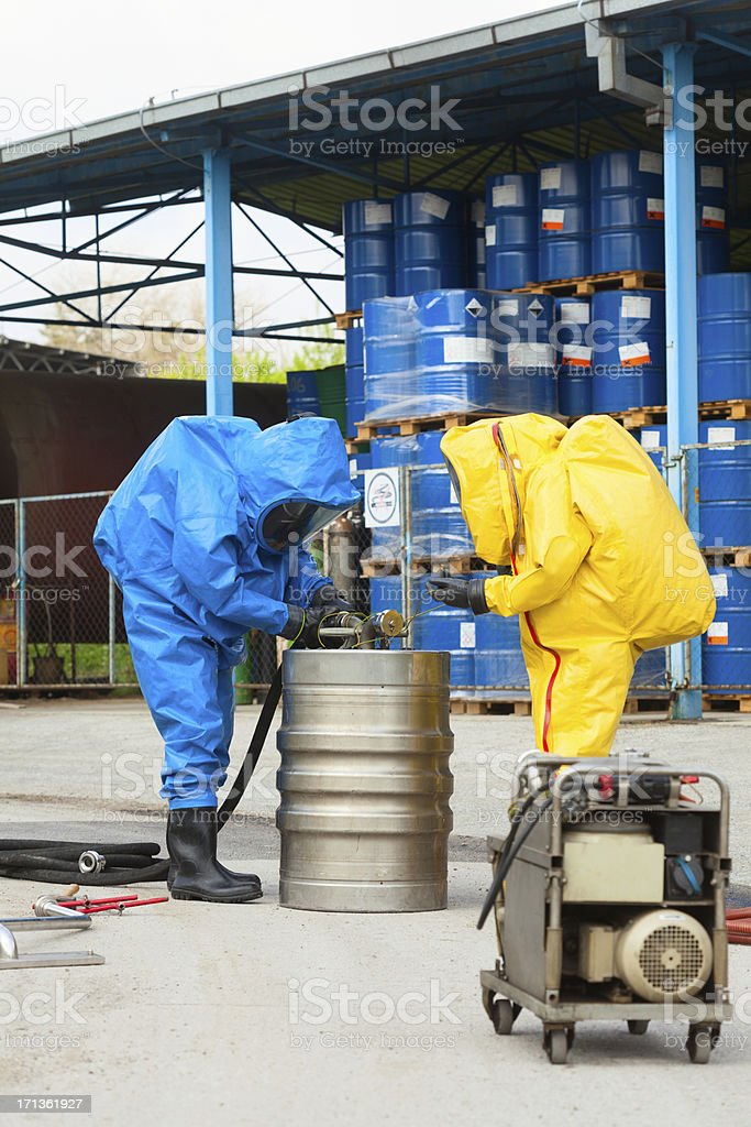 HAZMAT team stock photo
