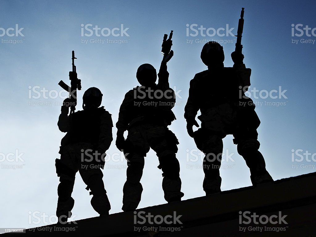 S.W.A.T. team royalty-free stock photo