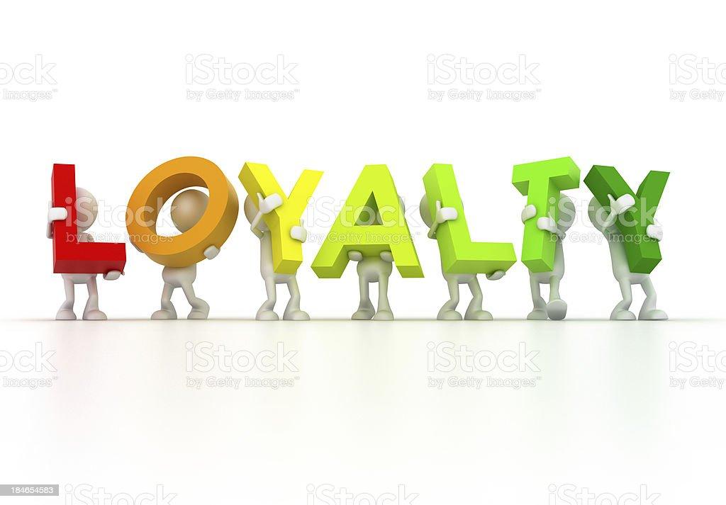 LOYALTY team royalty-free stock photo