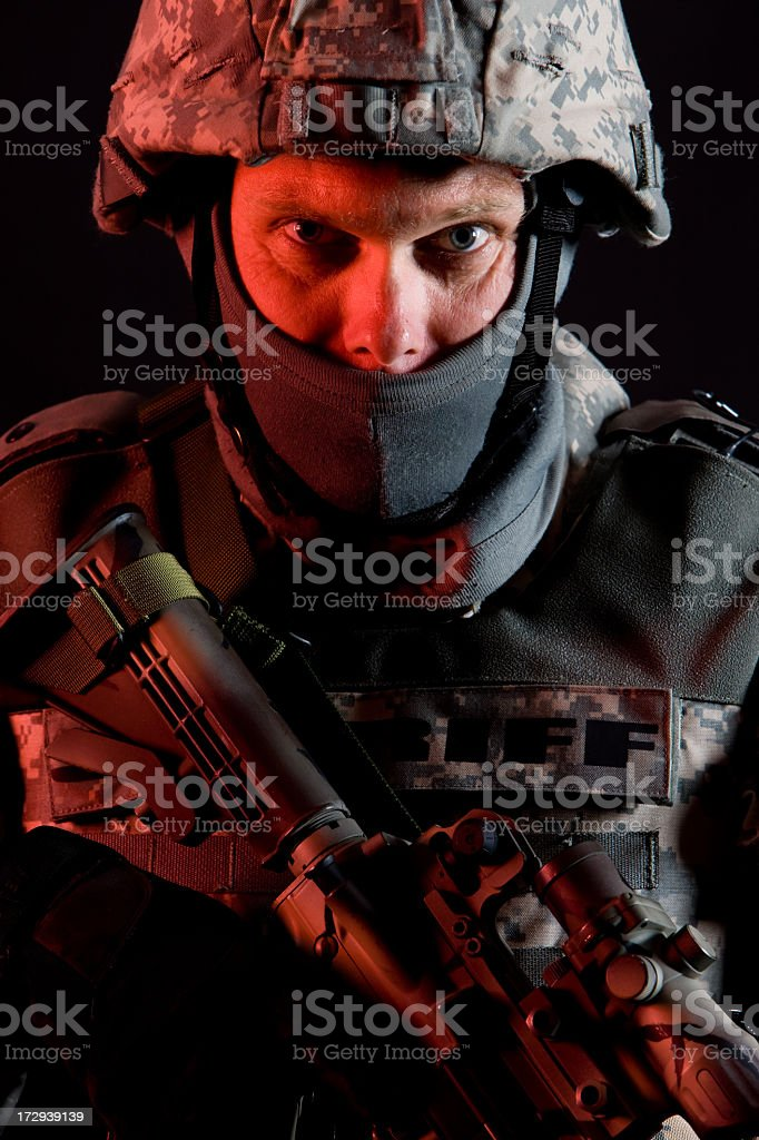 SWAT Team Portrait royalty-free stock photo