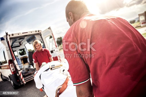 istock EMT team provide first aid on the street 482690837