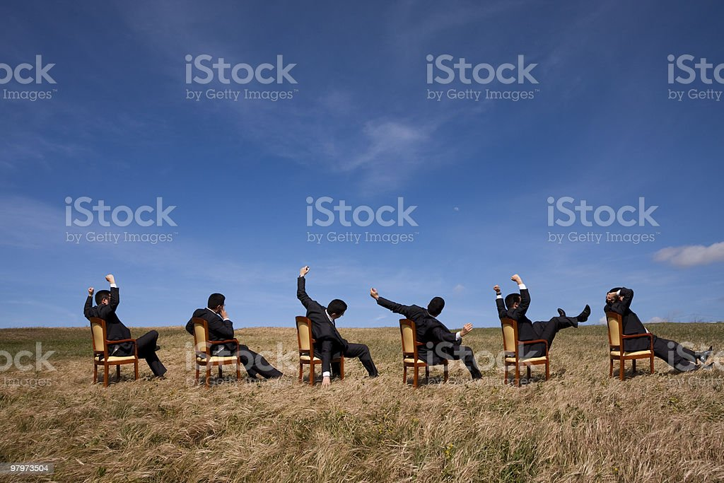 Team relax time royalty-free stock photo