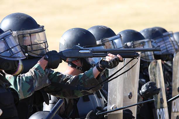 SWAT Team Responds stock photo