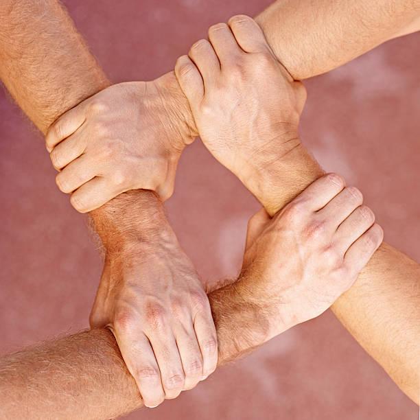 Team solidarity stock photo