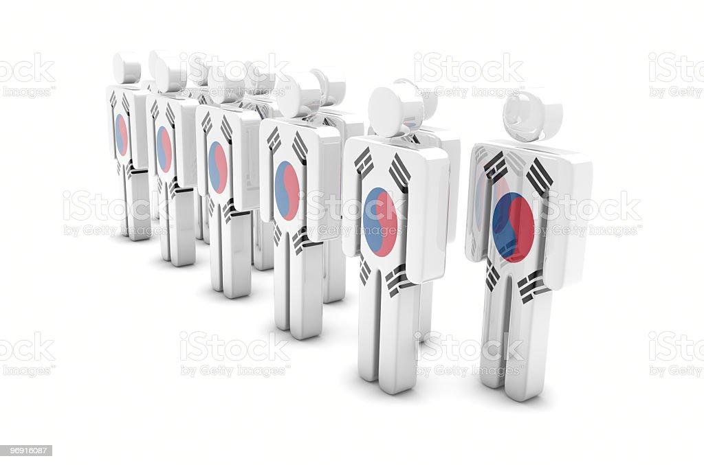 Team South Korea stock photo