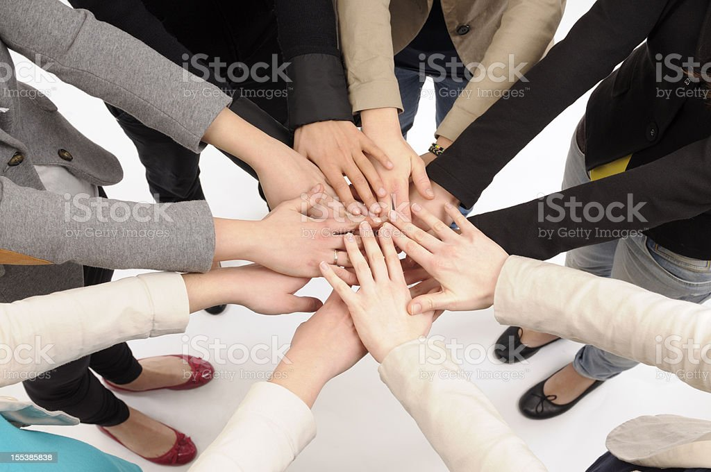 Team Stacking Hands royalty-free stock photo
