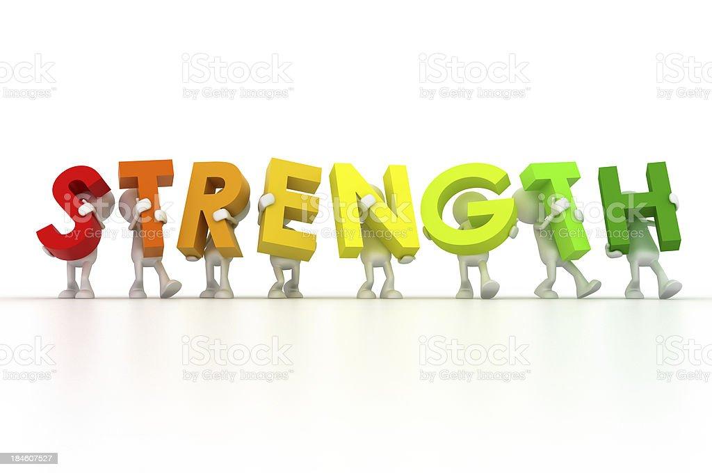 Team Strength royalty-free stock photo