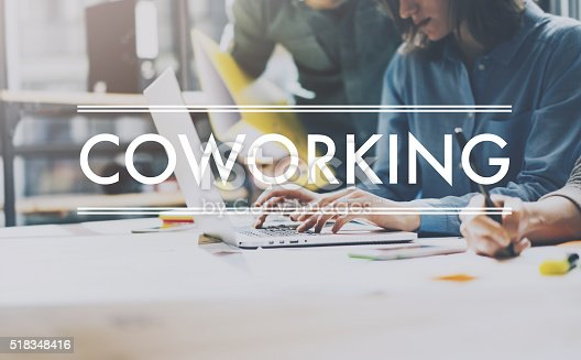 istock Team succes,coworking world.Photo young business managers  work new 518348416