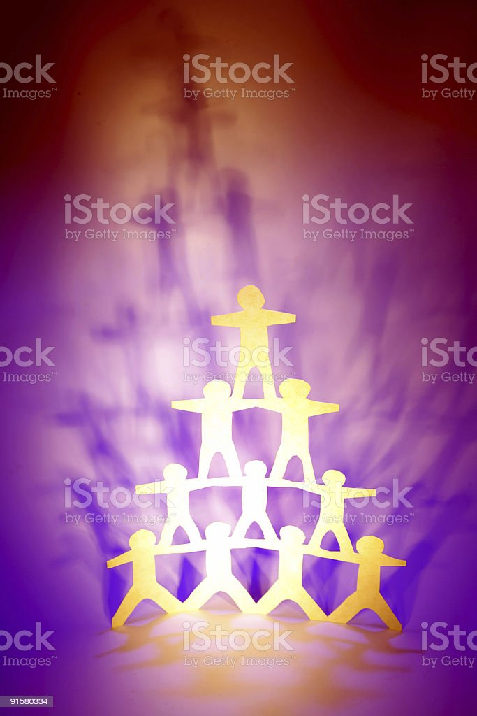Team support royalty-free stock photo