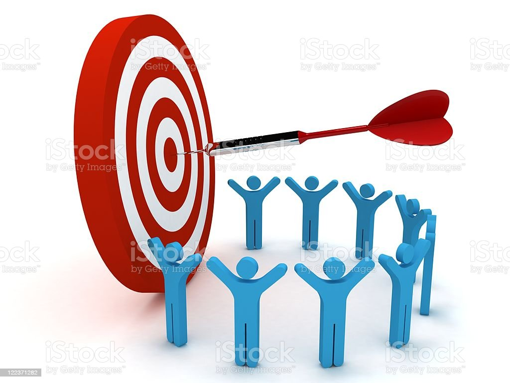 Team Target royalty-free stock photo