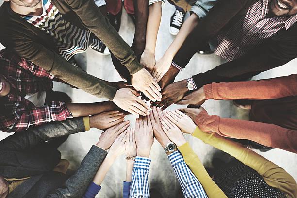 Concept de travail d'équipe ensemble à la Collaboration - Photo
