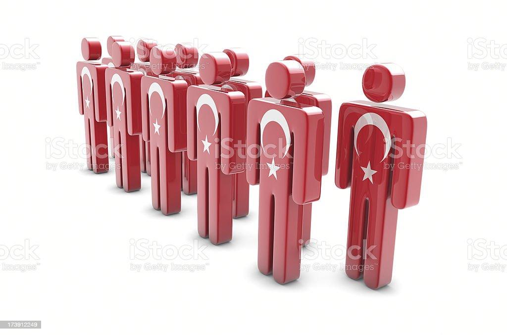 Team Turkey stock photo
