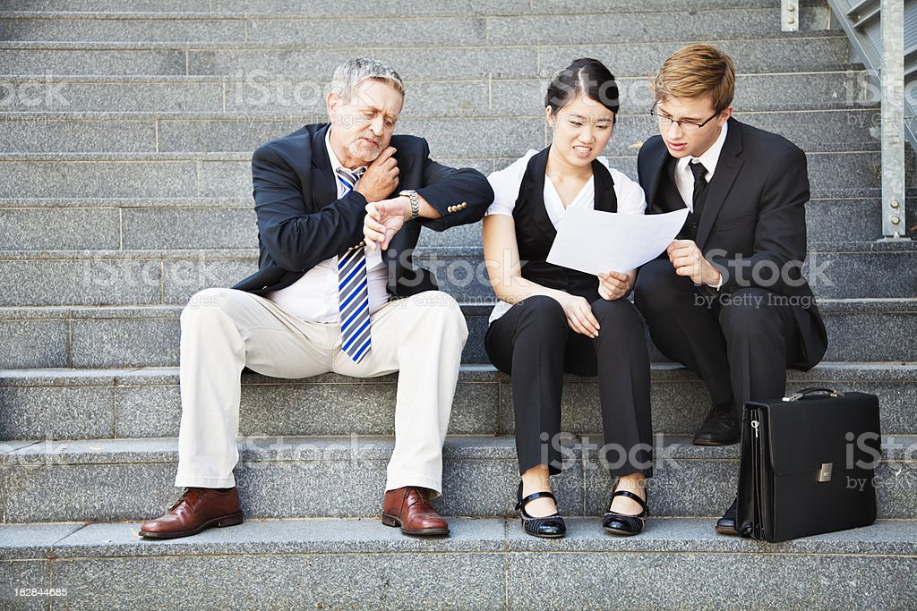 team under time pressure royalty-free stock photo