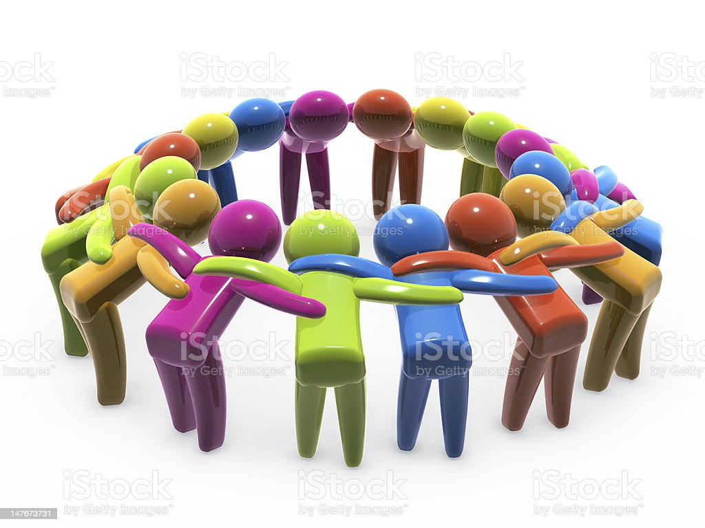 Team unity and cooperation royalty-free stock photo