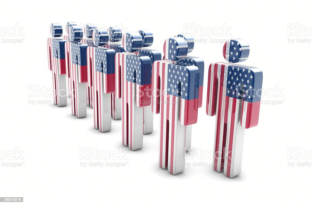 Team USA royalty-free stock photo