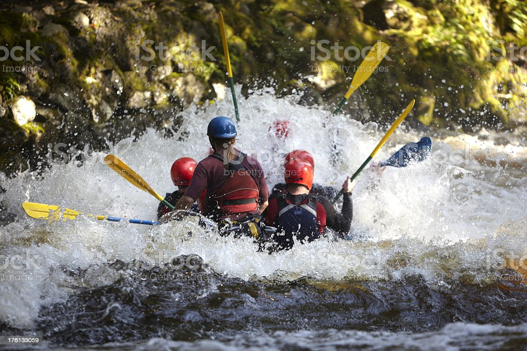 team whitewater rafting - extreme sport excitement royalty-free stock photo