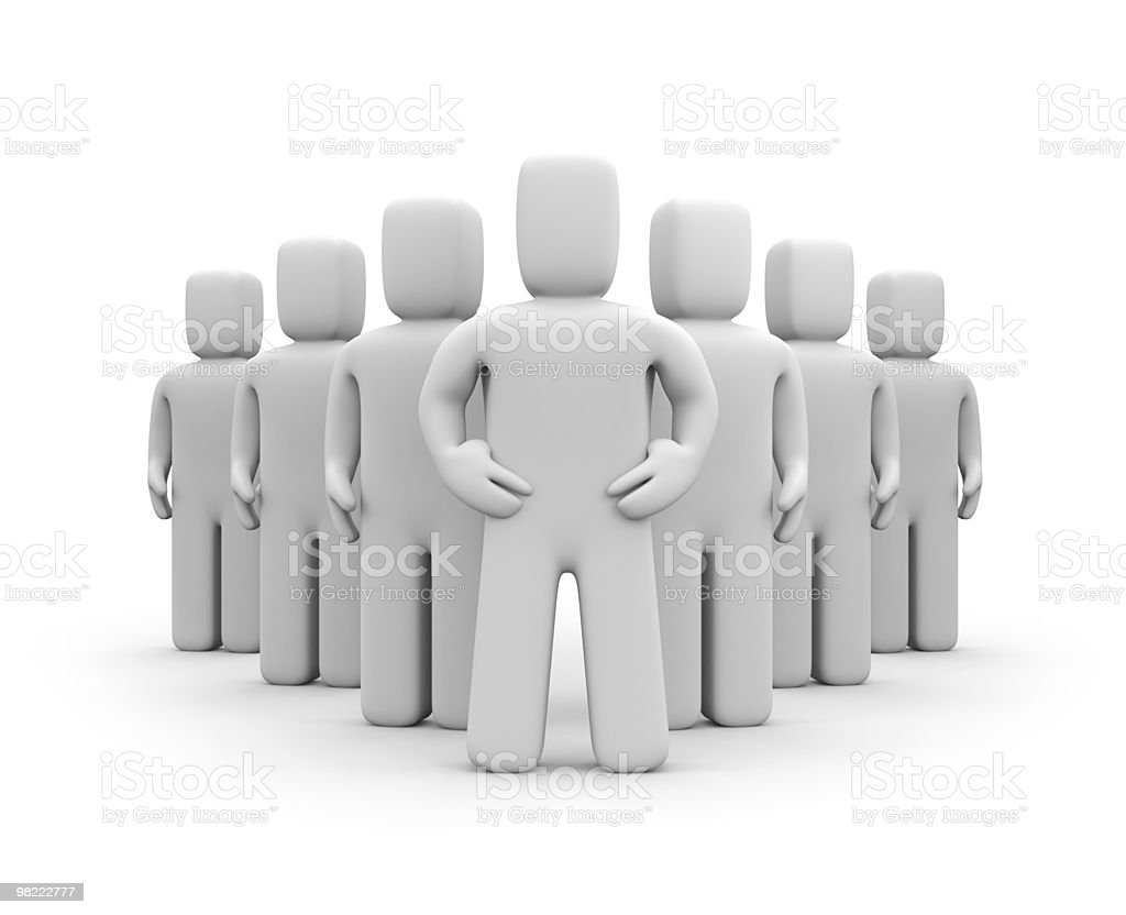 Team with leader royalty-free stock photo