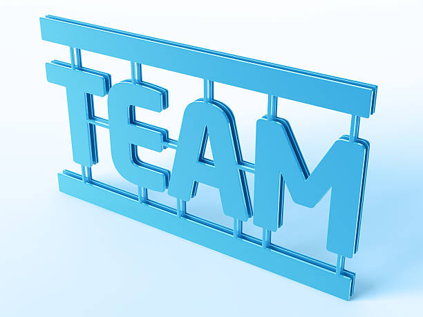 Team Word Model Kit Symbol 3D Render of a blue Team Word Symbol (Model Kit Style). Very high resolution available! Use it for Your own composings!Related images: blue 3d business NOT map NOT background stock pictures, royalty-free photos & images