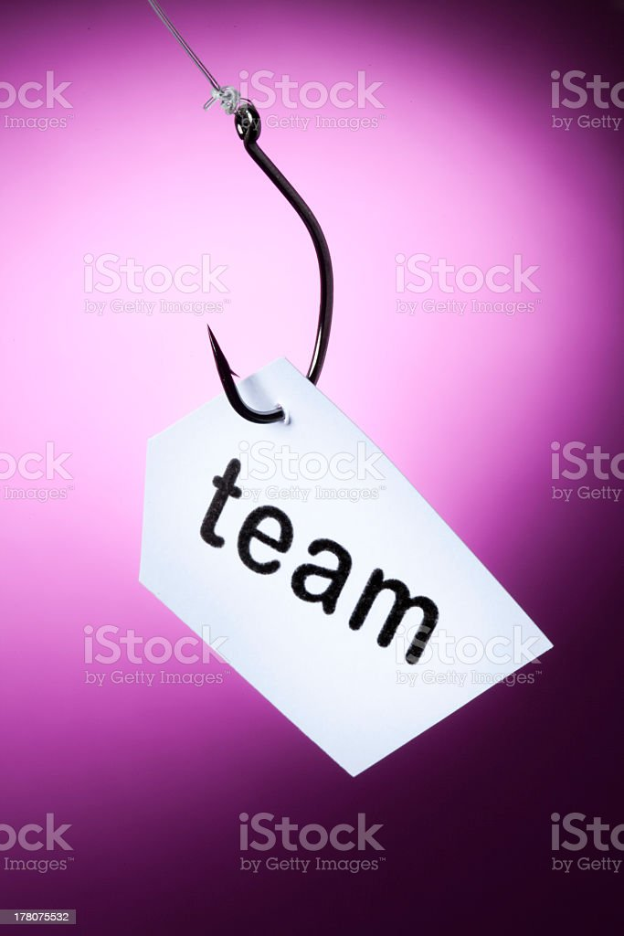 team word on hook royalty-free stock photo