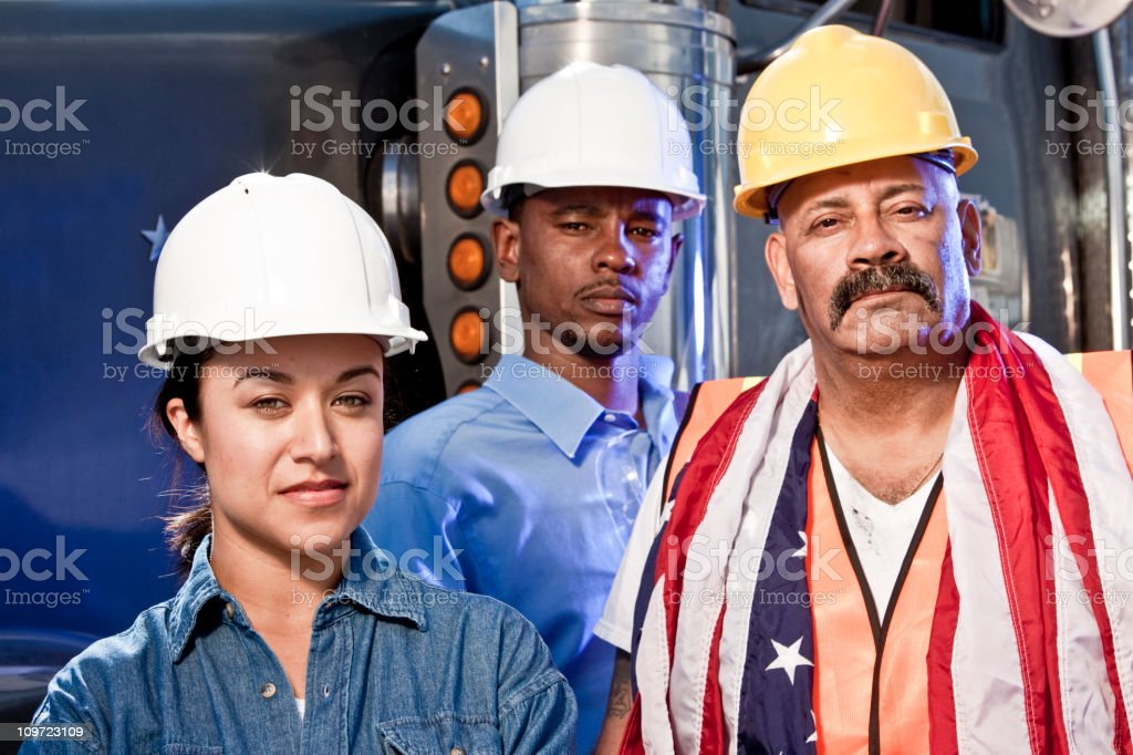 Team work and pride royalty-free stock photo