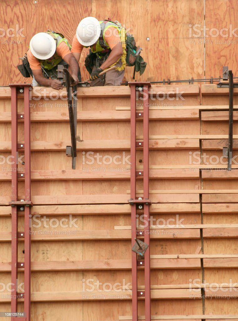 Team Work Construction Workers royalty-free stock photo