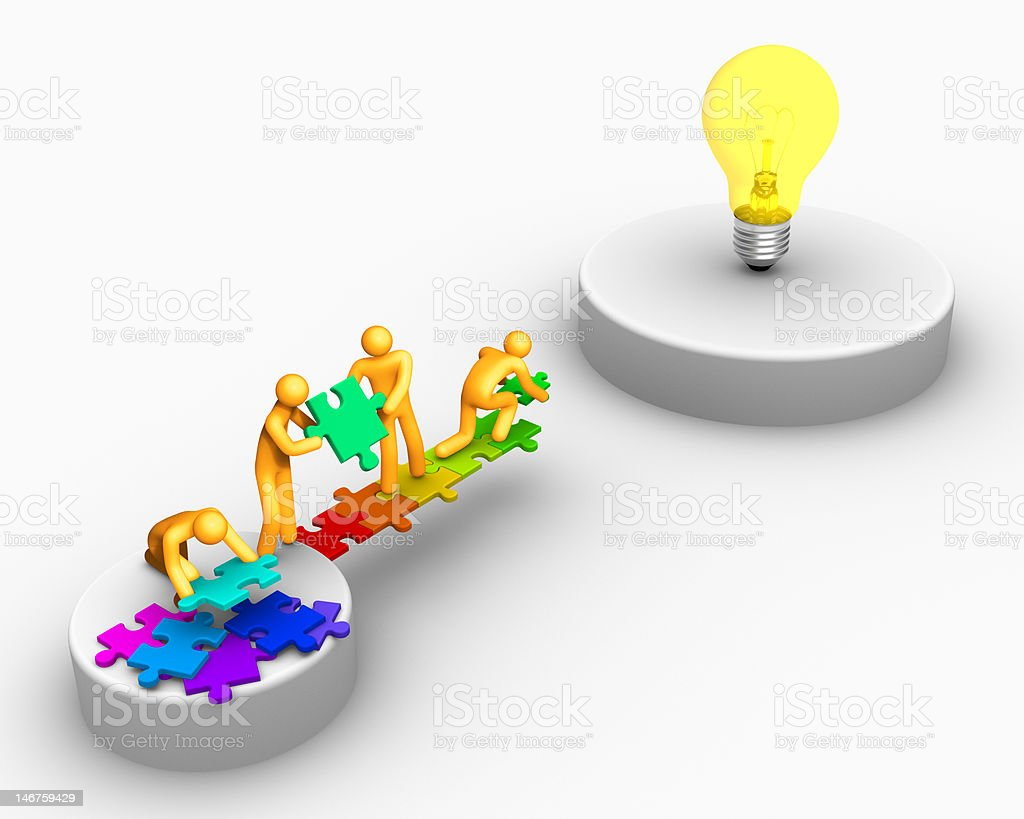 Team work for ideas royalty-free stock photo