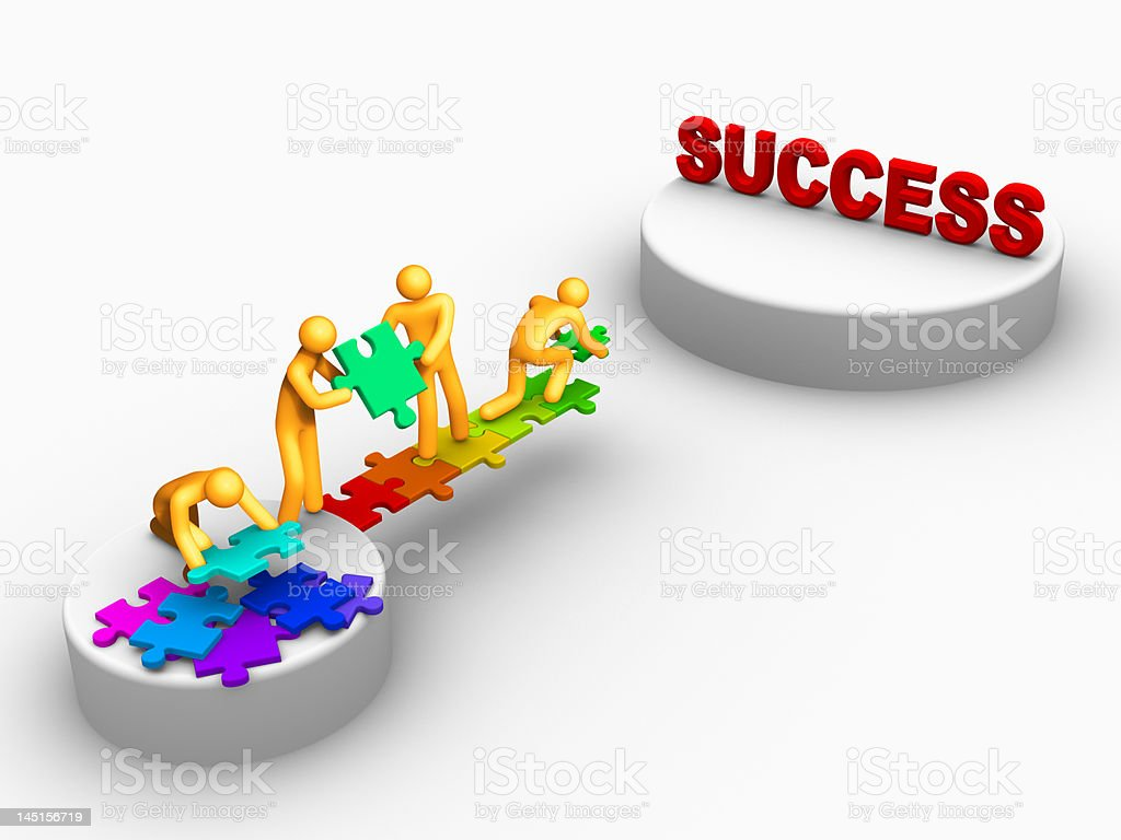 team work for success stock photo