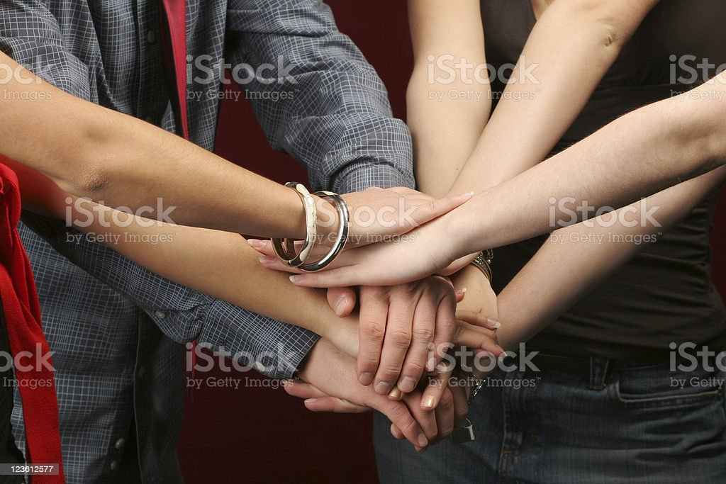 Team work - hands royalty-free stock photo