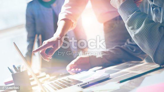 istock Team work. New product researching. Startup crew 538362390