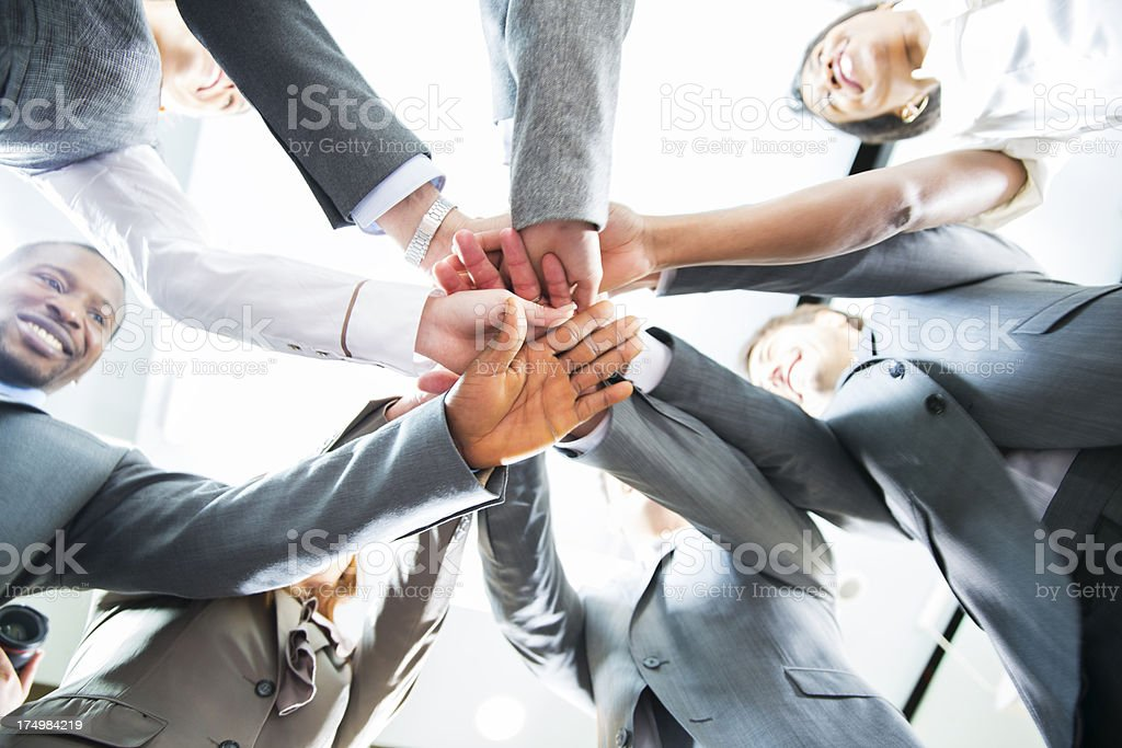 Team work....hands of a business people showing unity royalty-free stock photo