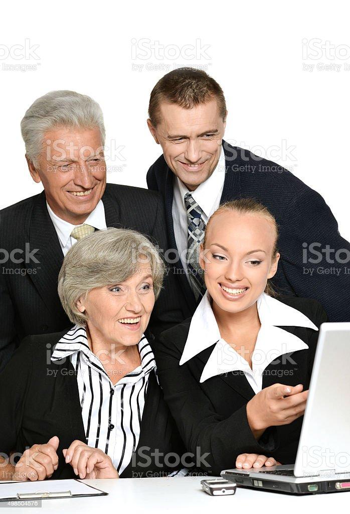 team works stock photo