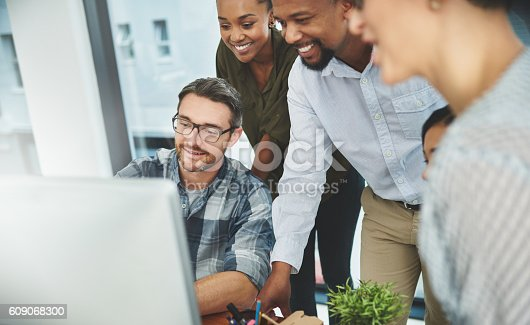609072850 istock photo Teaming up to reach success together 609068300