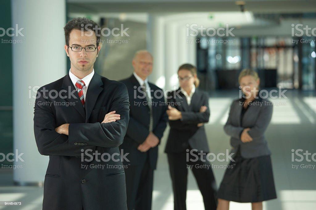 teamleader royalty-free stock photo