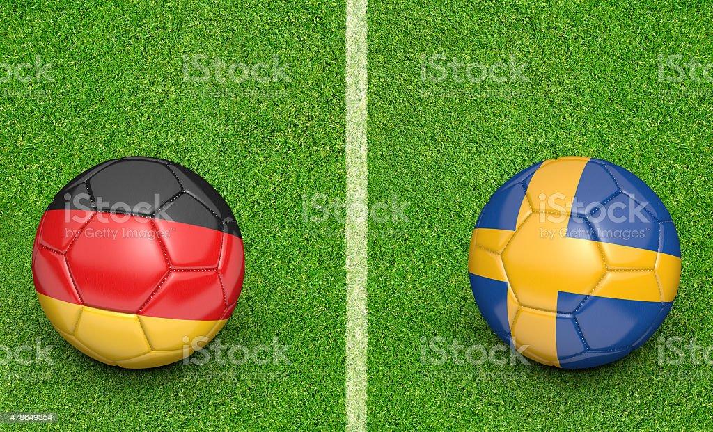 teams germany vs sweden football tournament match stock