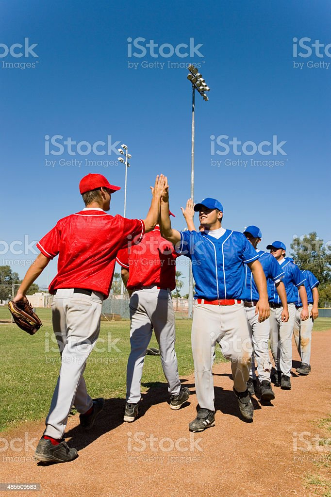 Teams High-Fiving Each Other stock photo