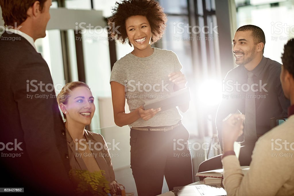 Teamwork allows for coordinated work which translates into better performance stock photo