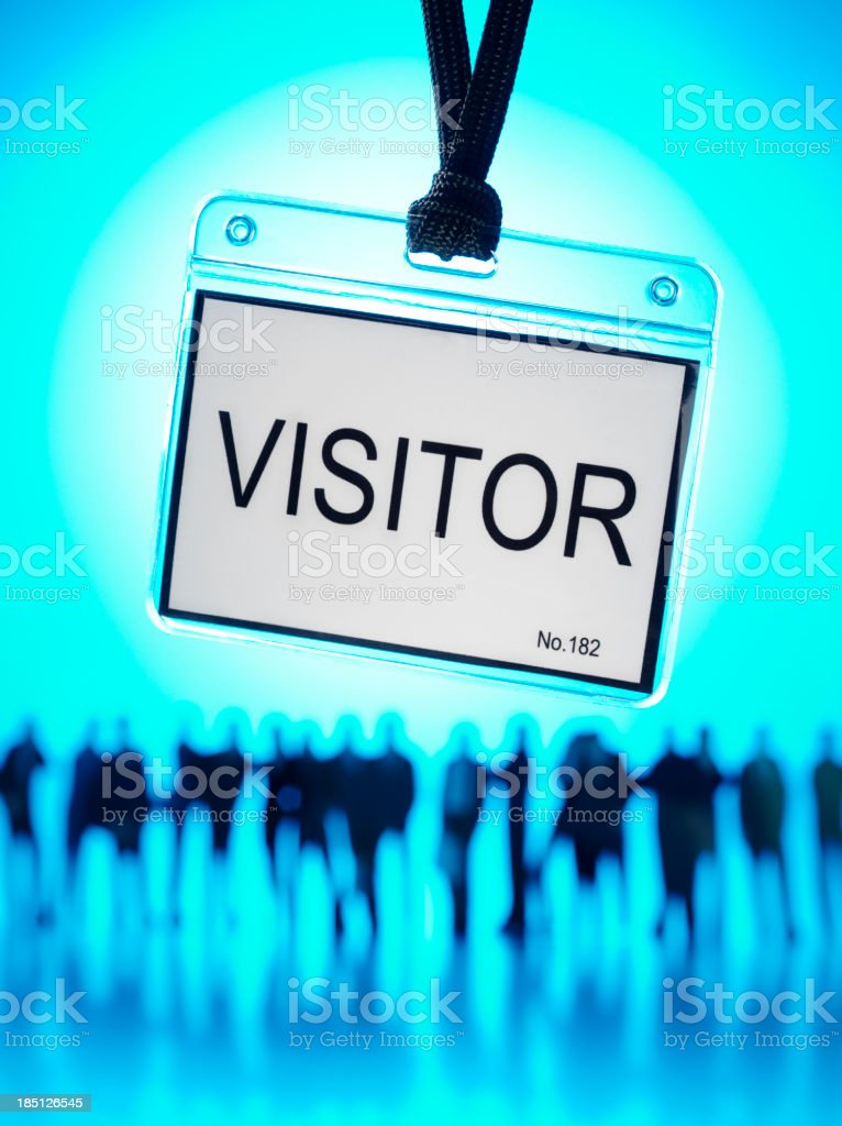 Teamwork and a Visitor royalty-free stock photo