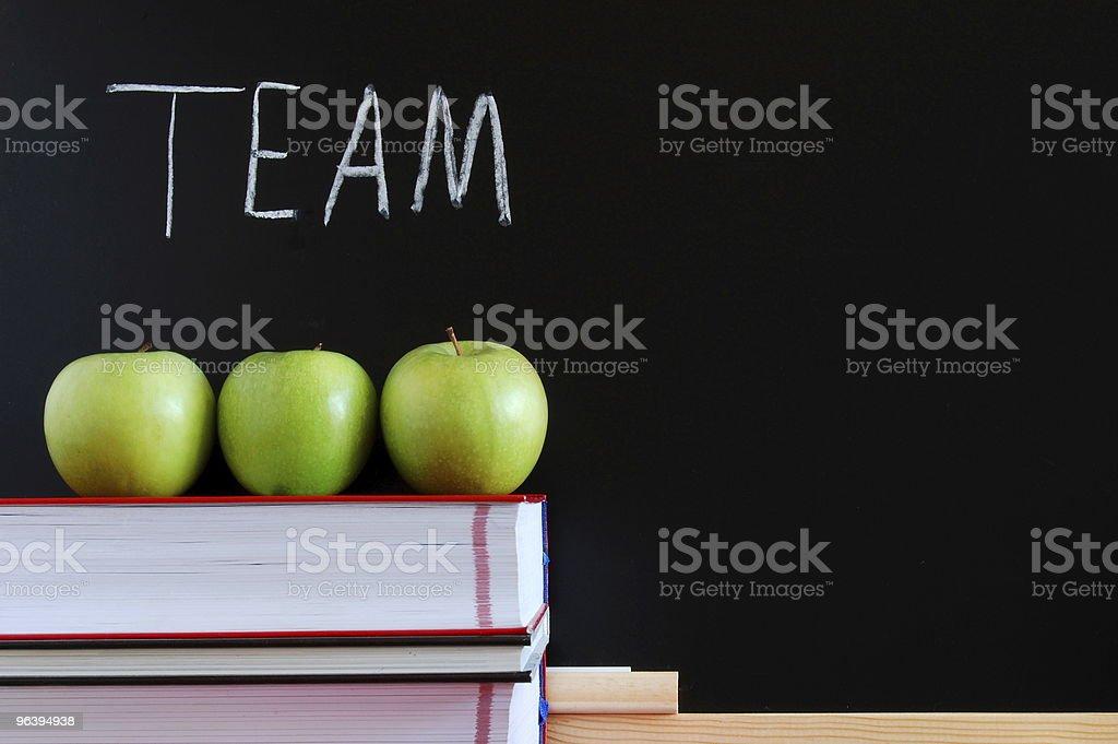 teamwork and chalkboard - Royalty-free Apple - Fruit Stock Photo