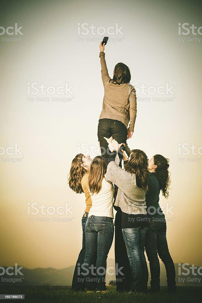 Teamwork and communication stock photo