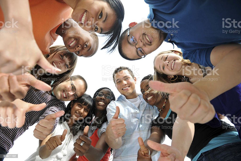 Teamwork and diversity stock photo