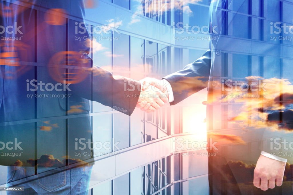 Teamwork and innovation concept stock photo