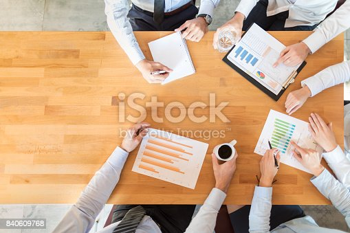 istock Teamwork and meeting concept. 840609768